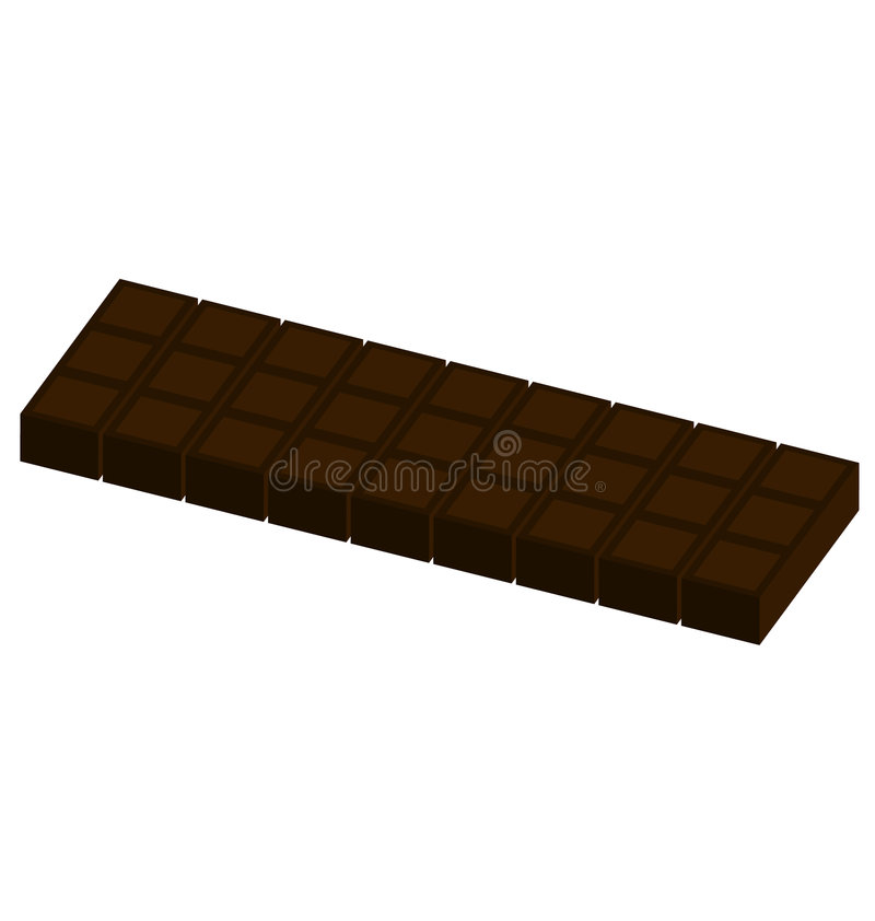 barra di caramella del cioccolato   illustrazione di stock
