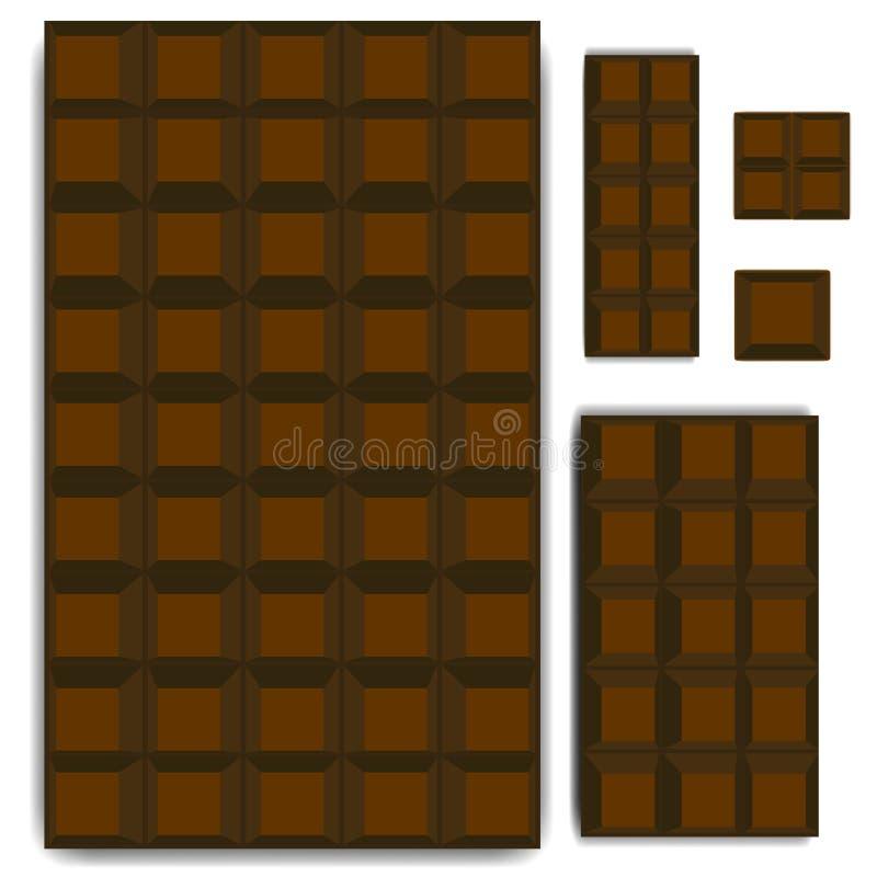 Barra di cioccolato illustrazione vettoriale