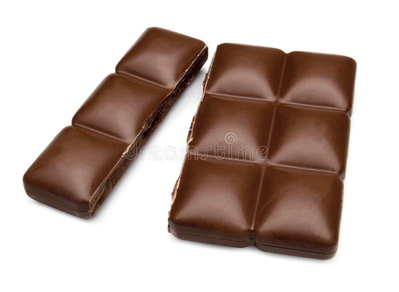 Barra di cioccolato incrinata immagini stock libere da diritti