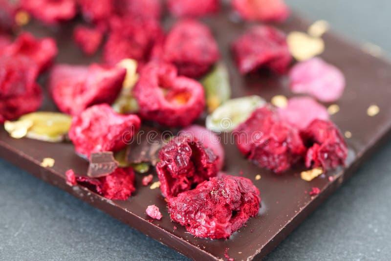Barra di cioccolato scura fotografie stock libere da diritti