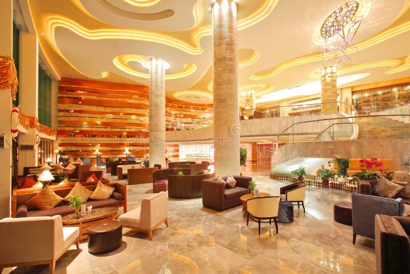 Barra di Corridoio dell'hotel cinque stelle fotografia stock libera da diritti