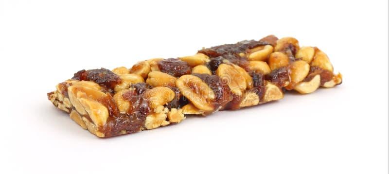 Barra di frutta Nuts e naturale ad angolo fotografia stock libera da diritti
