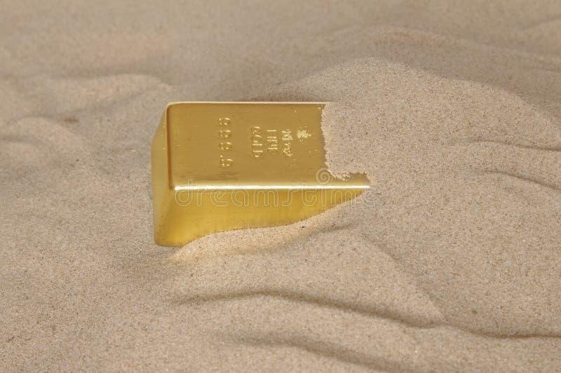 Barra di oro immagine stock