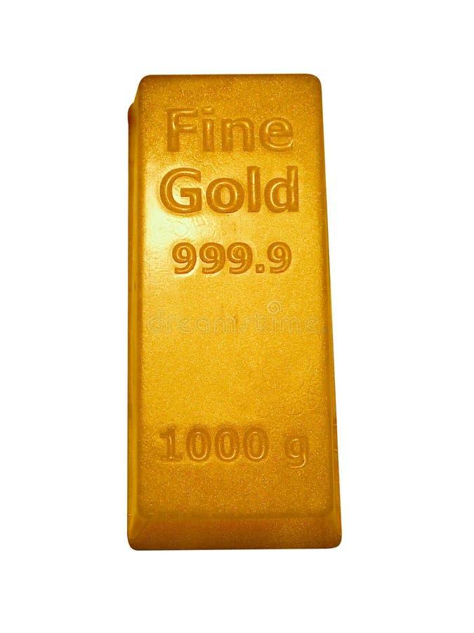 Barra di oro fotografie stock libere da diritti