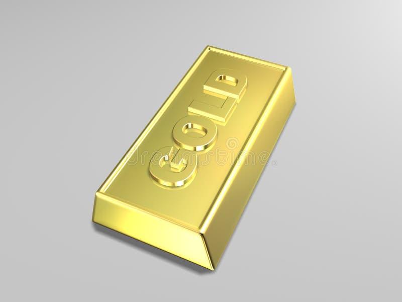 Barra di oro royalty illustrazione gratis