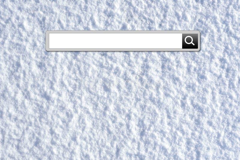 Barra di ricerca di vacanza di inverno illustrazione di stock