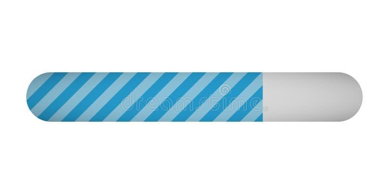 Barra di stato di carico di progresso su fondo bianco illustrazione di stock