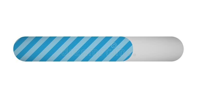 Barra di stato di carico di progresso su fondo bianco illustrazione vettoriale