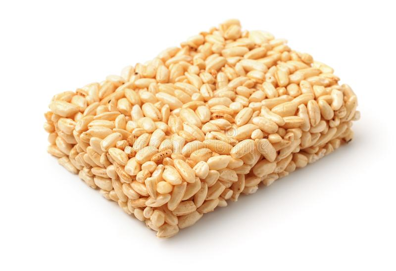 Barra do arroz de sopro isolada fotografia de stock