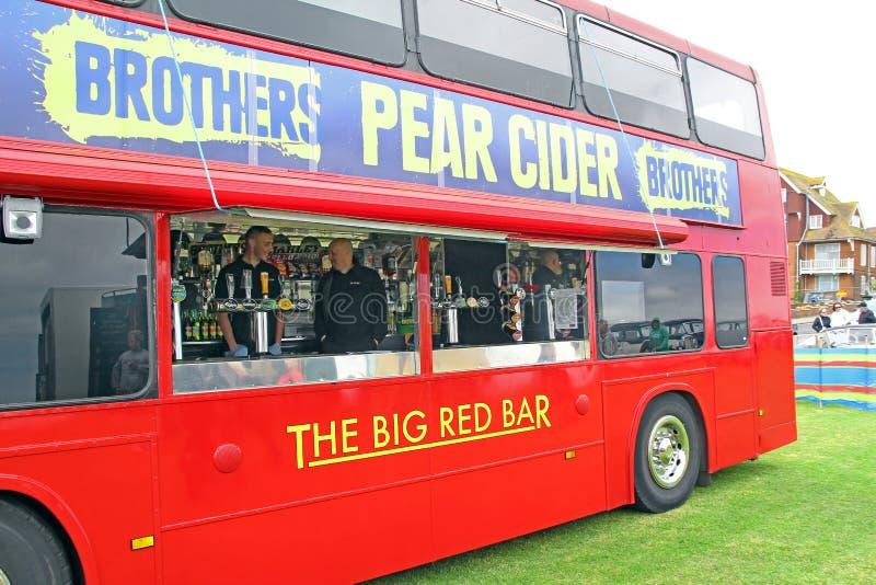 Barra do bar em um ônibus fotos de stock royalty free