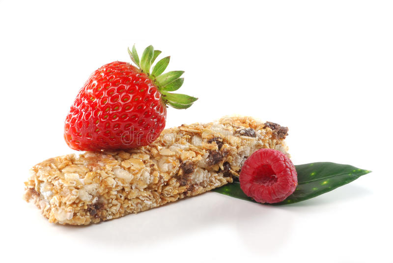 Barra do cereal com frutas fotos de stock