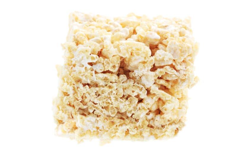 Barra do cereal do Marshmallow e do arroz fotos de stock