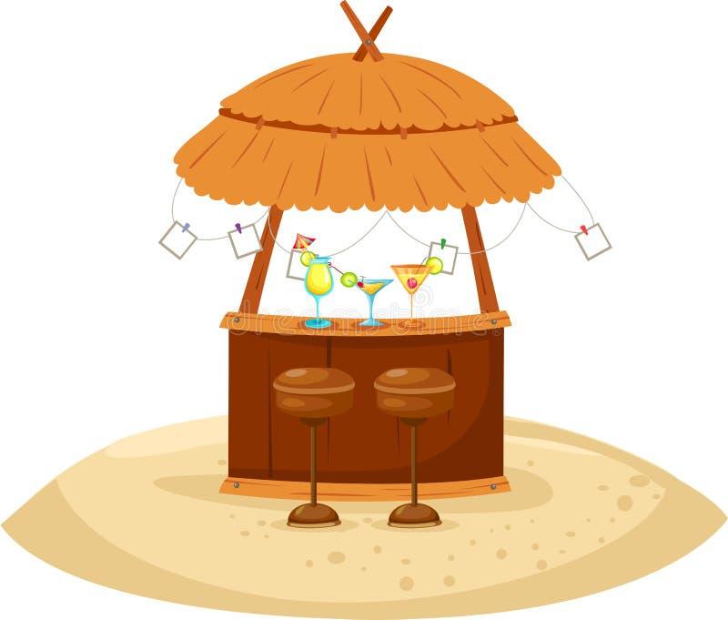 Barra do cocktail da praia ilustração stock