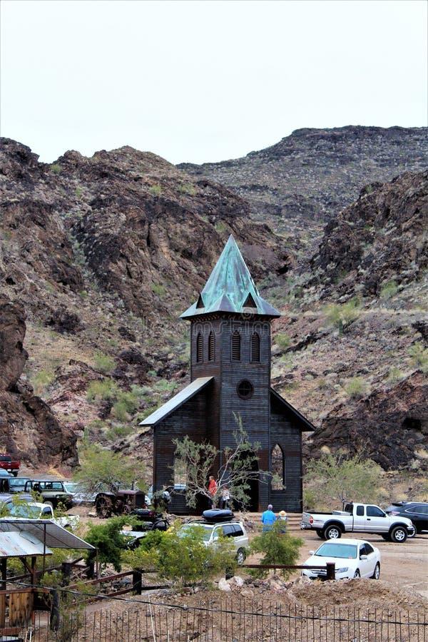 A barra do deserto, Parker, o Arizona, Estados Unidos foto de stock