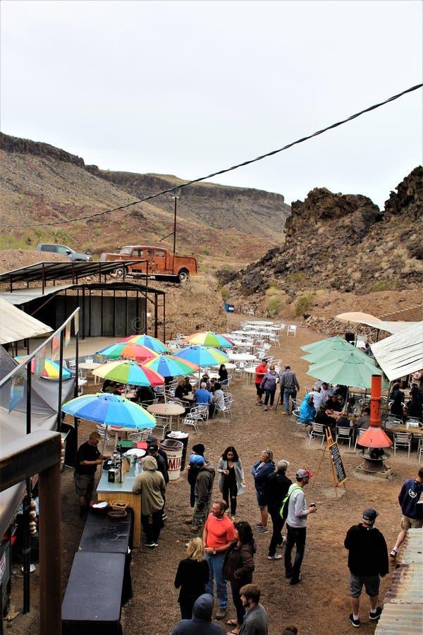 A barra do deserto, Parker, o Arizona, Estados Unidos imagem de stock