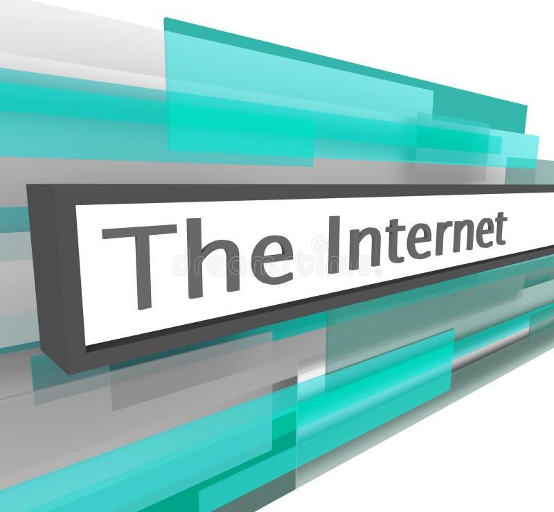 Barra do endereço de Web site do Internet ilustração do vetor