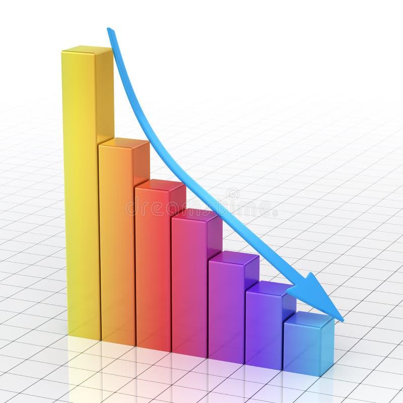 Barra do gráfico da cor do inclinação do negócio ilustração do vetor