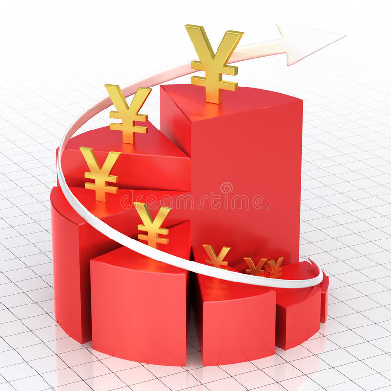 Barra do gráfico da torta do negócio ilustração stock