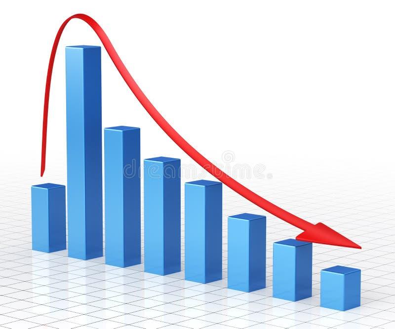 Barra do gráfico de negócio ilustração do vetor