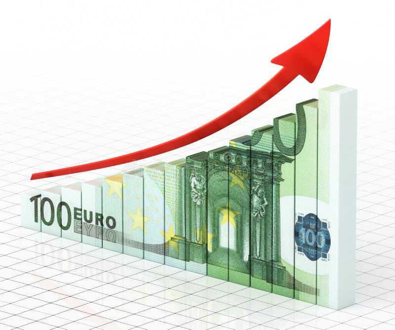 Barra do gráfico de negócio ilustração royalty free