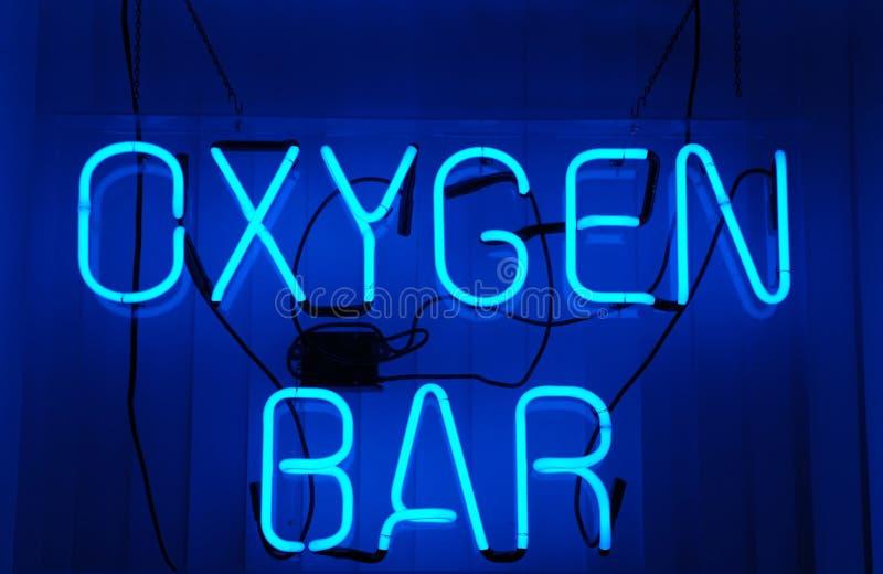 Barra do oxigênio fotos de stock royalty free