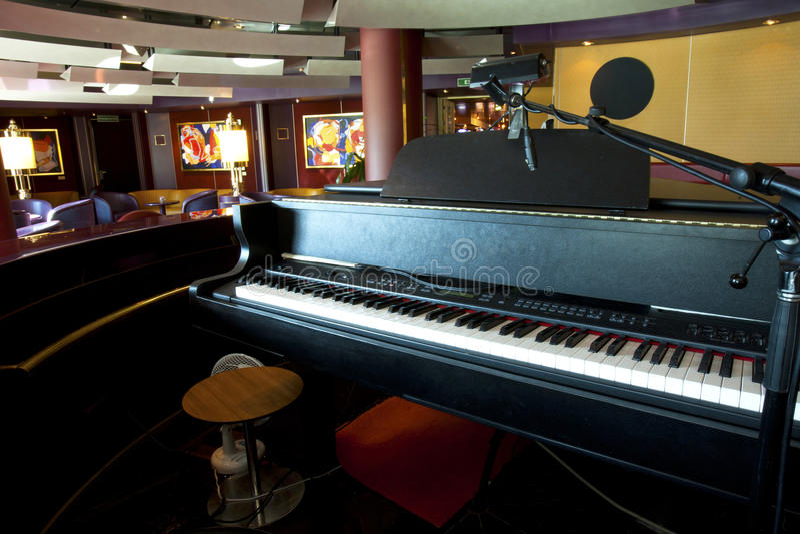 Barra do piano foto de stock