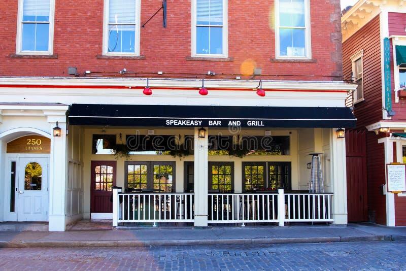 Barra do Speakeasy & grade, Newport, RI fotografia de stock royalty free