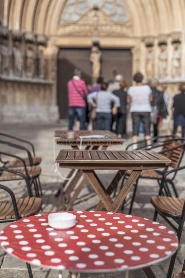 Barra do terraço no ponto turístico da cidade de Tarragona foto de stock