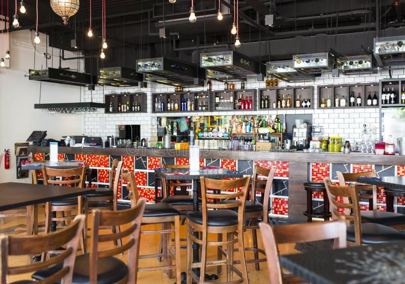 Barra dos restaurantes imagem de stock