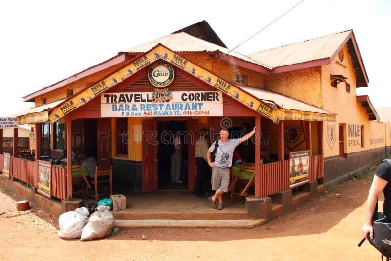 Barra dos viajantes & restaurante de canto Masindi, Uganda foto de stock