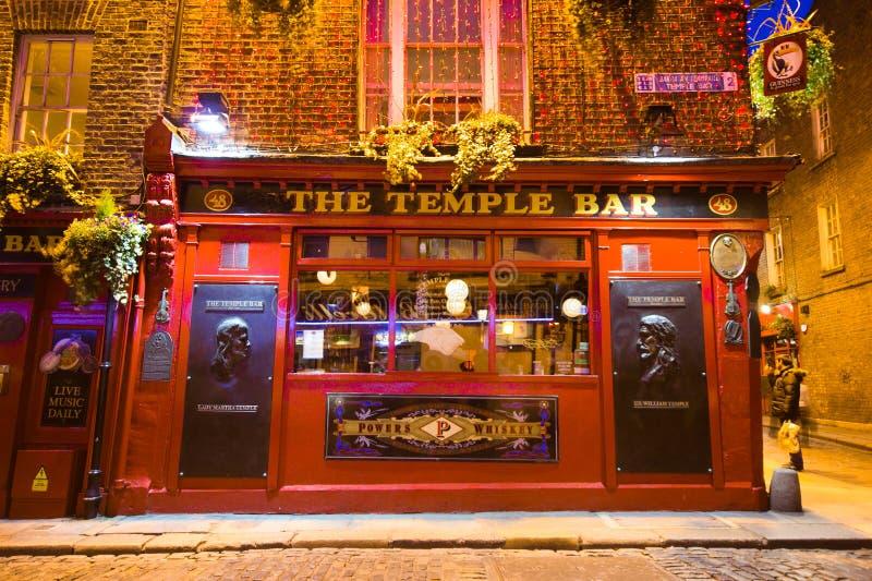 Barra Dublin do templo imagem de stock