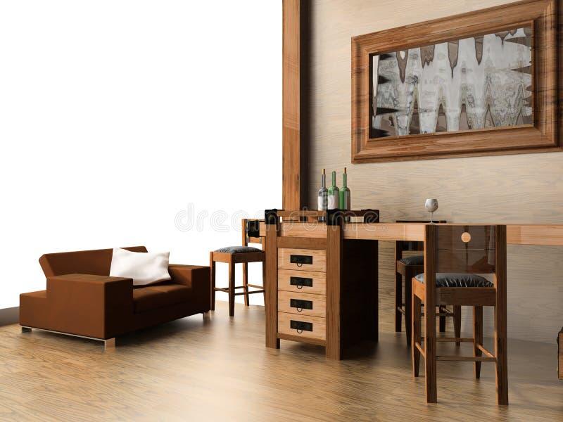 Barra en hotel stock de ilustración
