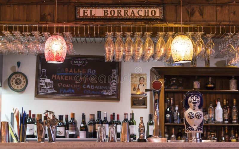 Barra espanhola do estilo fotografia de stock royalty free