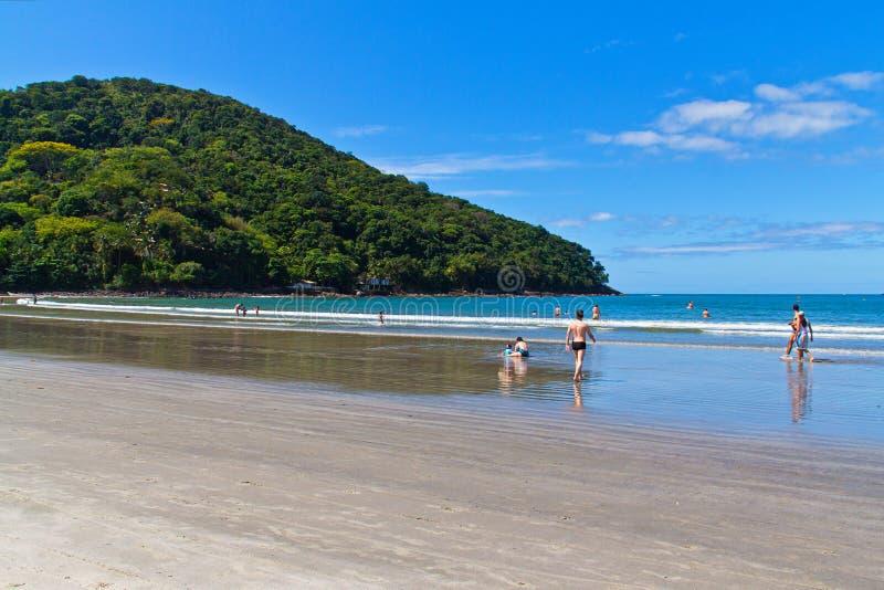 Barra gör den Sahy stranden - Brasilien royaltyfri foto