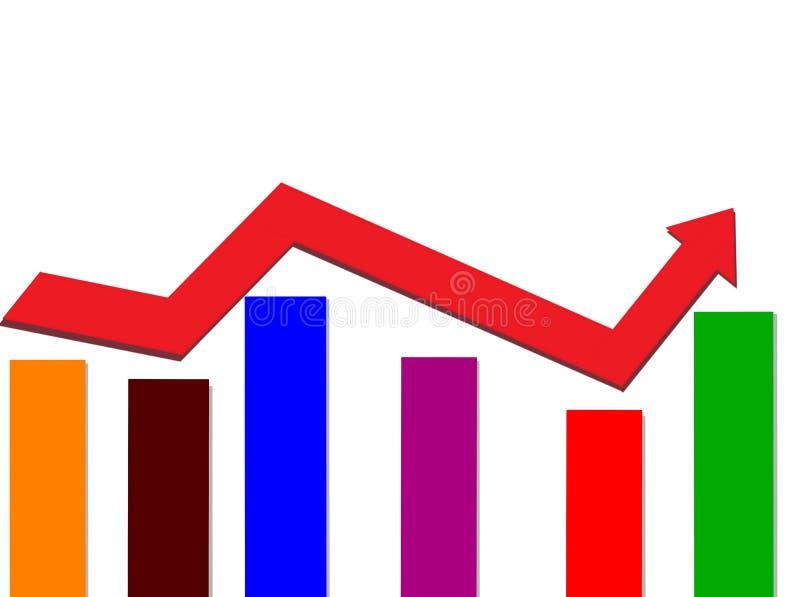 Barra graph ilustração stock