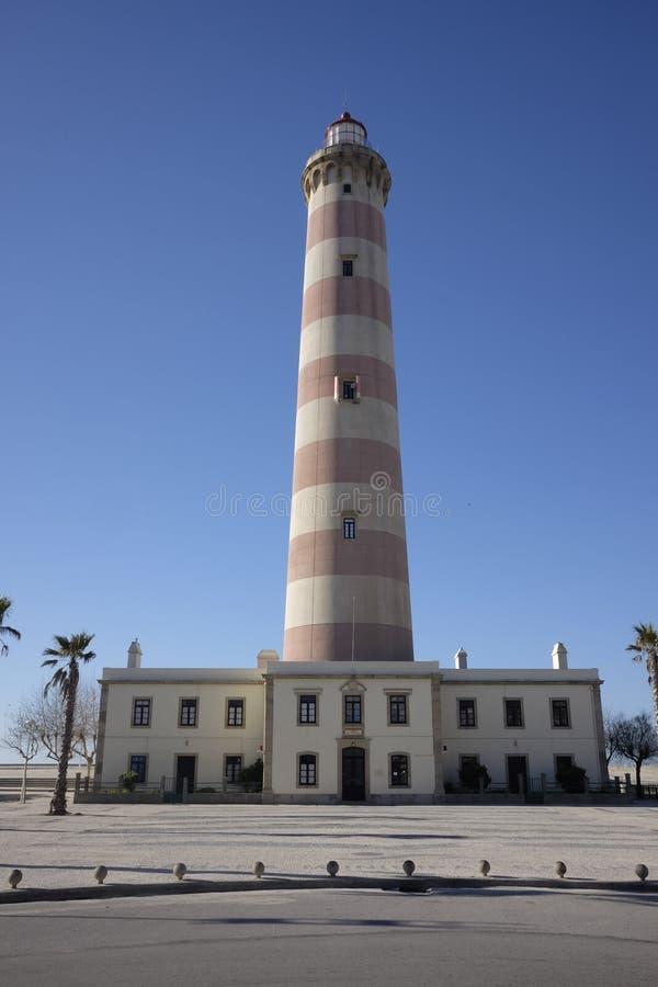 Download Barra-Leuchtturm In Portugal Stockfoto - Bild von strand, portugal: 106800430