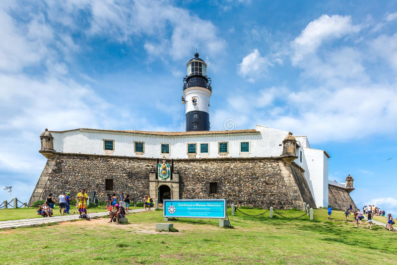 Barra Lighthouse (Farol da Barra) in Salvador, Brazil royalty free stock images