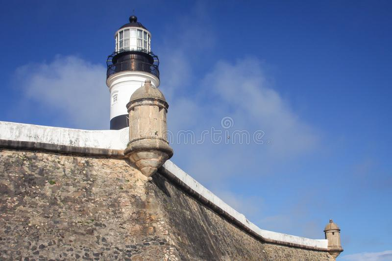 Barra lighthouse stock photo
