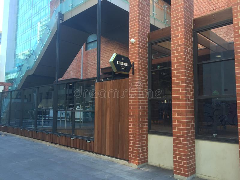 Barra moderna stessa a Adelaide fotografia stock