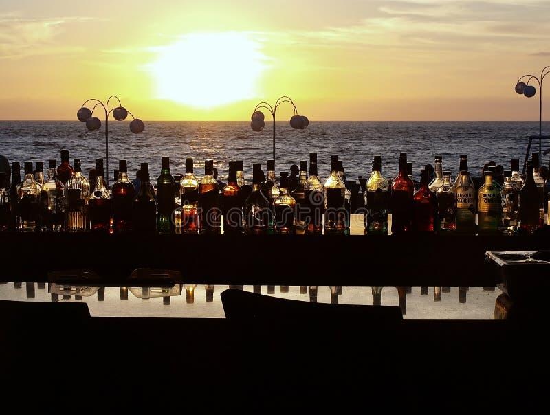 Barra na praia Puerto Vallarta México fotografia de stock royalty free