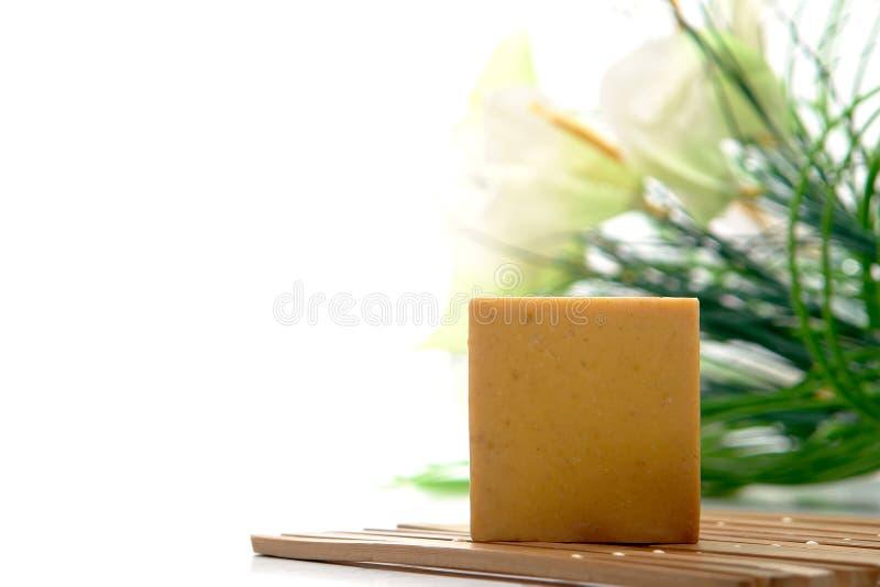 Barra natural del jabón de baño de Aromatherapy imagenes de archivo