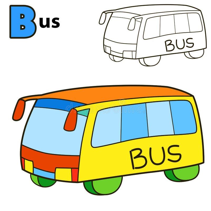 barra-ônibus Página do livro para colorir ilustração royalty free