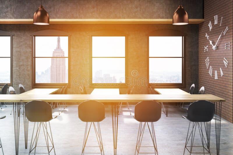 Barra soleggiata di New York illustrazione di stock