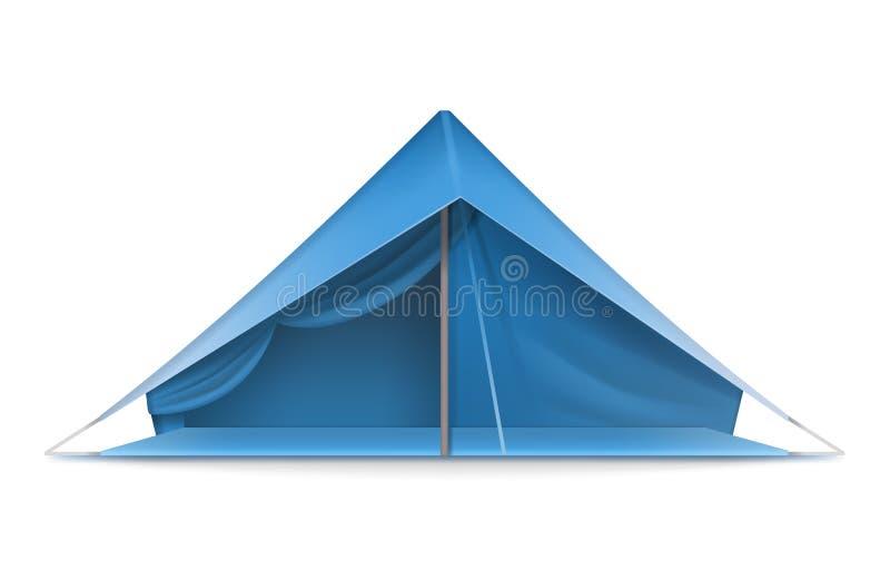 Barraca azul do turista ilustração royalty free