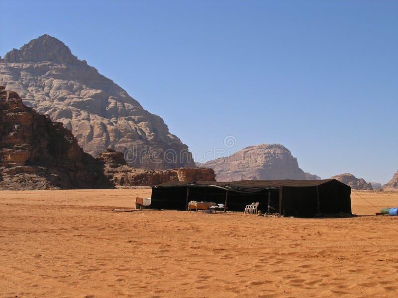 Barraca beduína, rum JORDÃO do barranco fotografia de stock