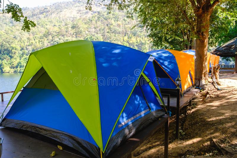 Barraca de acampamento imagem de stock royalty free