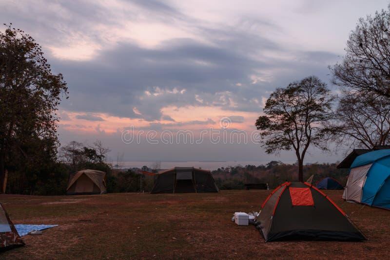 Barraca de acampamento fotografia de stock