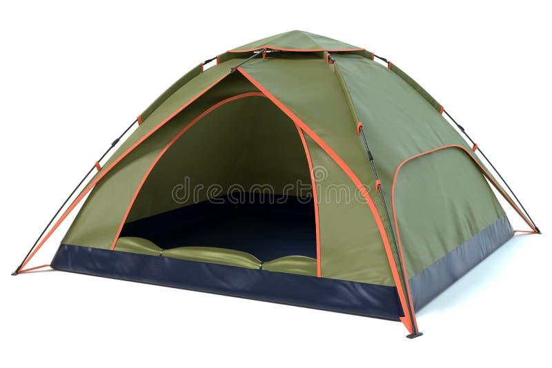 Barraca de acampamento verde imagens de stock