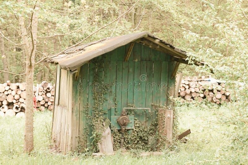 Barraca de madeira isolada no jardim Alemanha, Europa fotografia de stock royalty free