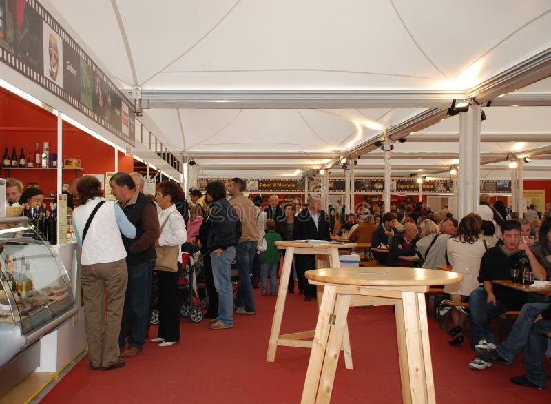 Barraca do alimento, Udine imagens de stock